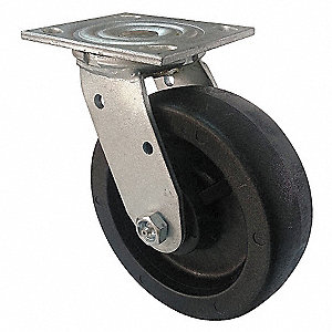 CASTER SWIVEL 4IN 800LB NYLON