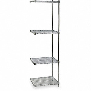SHELVING,ADD-ON,H 85,W 24,D 18,CHRO