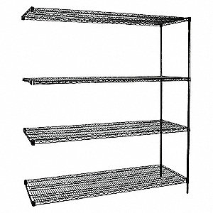 SHELVING,ADD-ON,H 74,W 60,D 18,BLAC