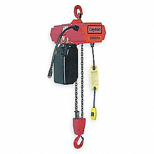 ELECTRIC CHAIN HOIST,1000 LB.,20 FT