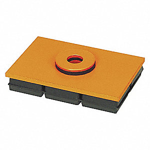 VIBRATION ISO PAD,8X8X3/4 IN,W/HOLE