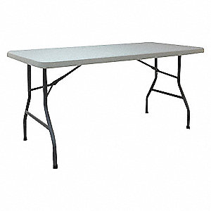 TABLE FOLDING TOP WHITE 60 IN L