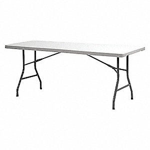 TABLE FOLDING WHITE 72IN L
