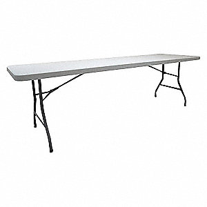 TABLE FOLDING WHITE 96 IN L