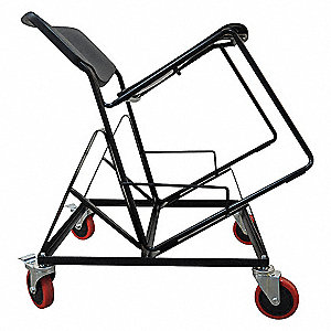 Stacking Chair Cart,25-1/2x24-1/2x20-1/8