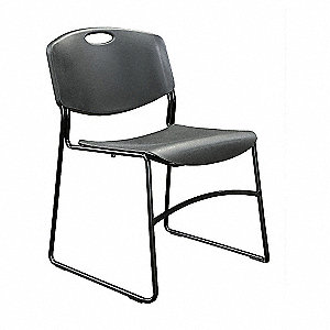 CHAIR STACKABLE BLACK