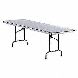 TABLE, 30X72 IN, GRAY/BLACK
