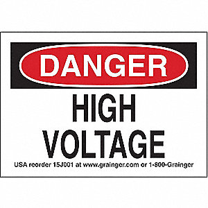 Sign,3.5x5,High Voltage,Vinyl