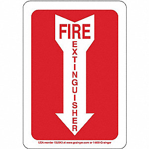 "Fire Equipment, No Header, Plastic, 10"" x 7"", With Mounting Holes"