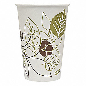 16 oz. Paper Disposable Cold Cup, White, 1200 PK