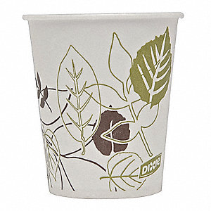 5 oz. Paper Disposable Cold Cup, White, 1200 PK