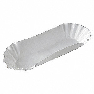 Paper Disposable Hot Dog Tray, White&#x3b; PK3000
