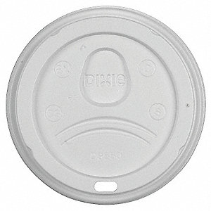 20, 24 fl. oz. Plastic Dome, Sip Through Hot Cup Lid, White, 1000 PK
