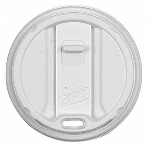 12 to 20 fl. oz. Plastic Reclosable, Sip Through Hot Cup Lid, White, 1000 PK