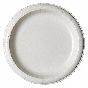 DISPOSABLE PLATE,8.5 IN.,WHITE,PK 5