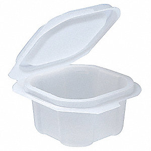 2 oz. Portion Cup w/Lid, Translucent Plastic, 900 PK
