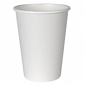 12 oz. Paper Disposable Hot Cup, White, 1000 PK