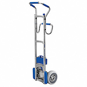 Stair Climbing Hand Truck, Continuous Frame Flow-Back, 240 lb., Overall Width 18""