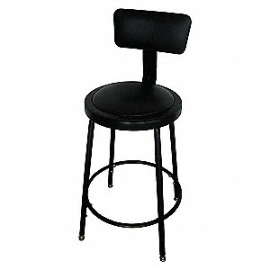 ROUND PADDED STOOL 24-33IN H