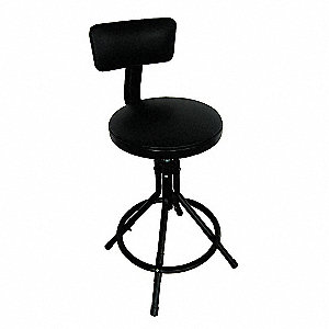 ROUND PADDED SWIVEL STOOL