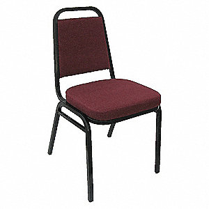 STACK CHAIR BURGUNDY FABRIC