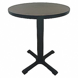 PEDESTAL TABLE 29X36 GRAY
