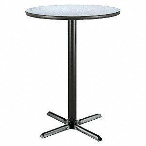PEDESTAL TABLE 42X36 GRAY