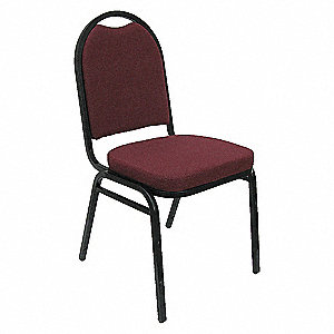 GUEST CHAIR STACK BURGUNDY