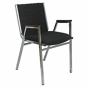GUEST CHAIR STACK CHARCOAL