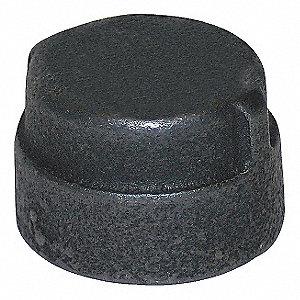 CAP BLK MALLBL IRON 300 PSI 1 1/2IN