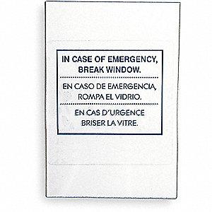 GLASS REPLACEMENT EMERG KEY BOX
