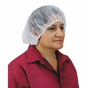 BOUFFANT POLYPROP WHITE 24IN 100/PK