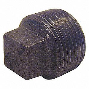 SQUARE HEAD PLUG 1 1/4 IN BLACK
