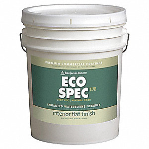 Interior Paint,Flat,5 gal,Glade Green