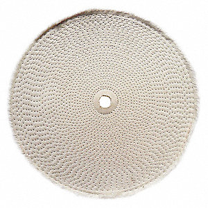 BUFFING WHEEL,SPIRAL SEWN,8 IN DIA.