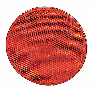REFLECTOR 3 1/4 CENTRE MOUNT RED