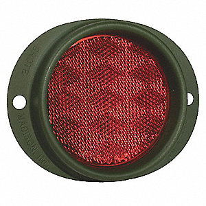 REFLECTOR MILITARY 2-HOLE MOUNT RED