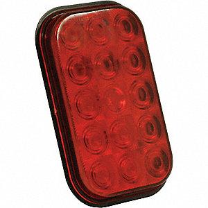 LAMP STT LED RECTANGULAR RED