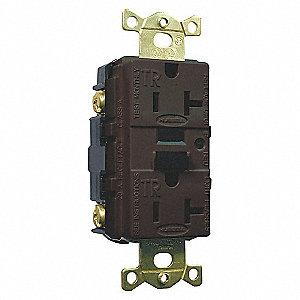 20A/125V INDUS TAMPER GFCI BROWN
