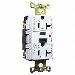 20A/125V INDSTRL TAMER GFCI WHT