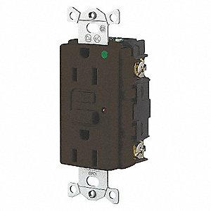 15A 125V COM HOSP LED GFCI BR