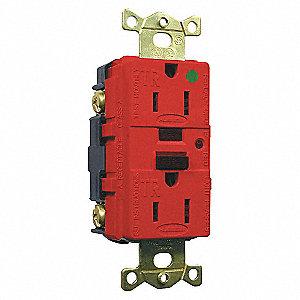 15A/125V INDL. HG TAMPER GFCI RED