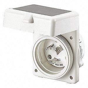 INLET 50A 125V RECTANGLE NON-METALL