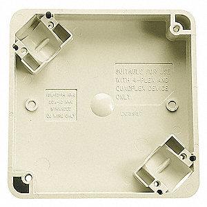 BOX PORTABLE 4PLEX IVORY