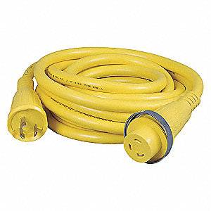 25FT 30A 125V YELLOW MARINE CABLE S