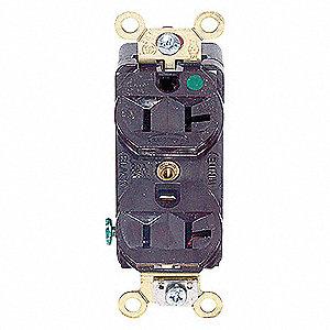 DUP RCPT COM/HG 20A 125V 5-20R BR