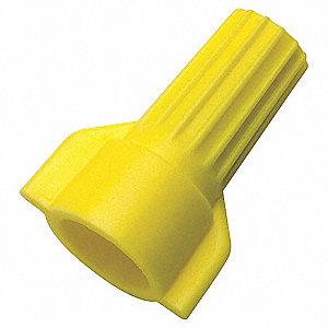 CONNECTOR WIRE WING YELLOW 100PK