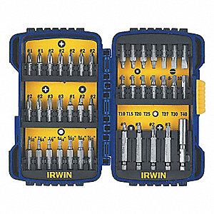 SCREWDRIVER BIT SET W/INSERT BITS
