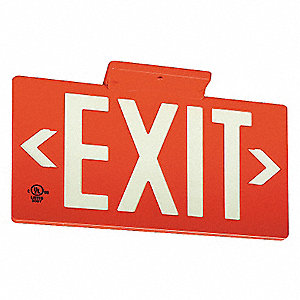 SIGN EXIT PF50 1 FACE WBRACKET RED