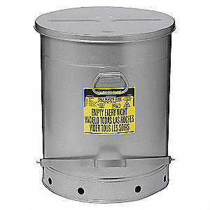 OILY WASTE CAN, 21 GAL, SOUNDGARD, RED